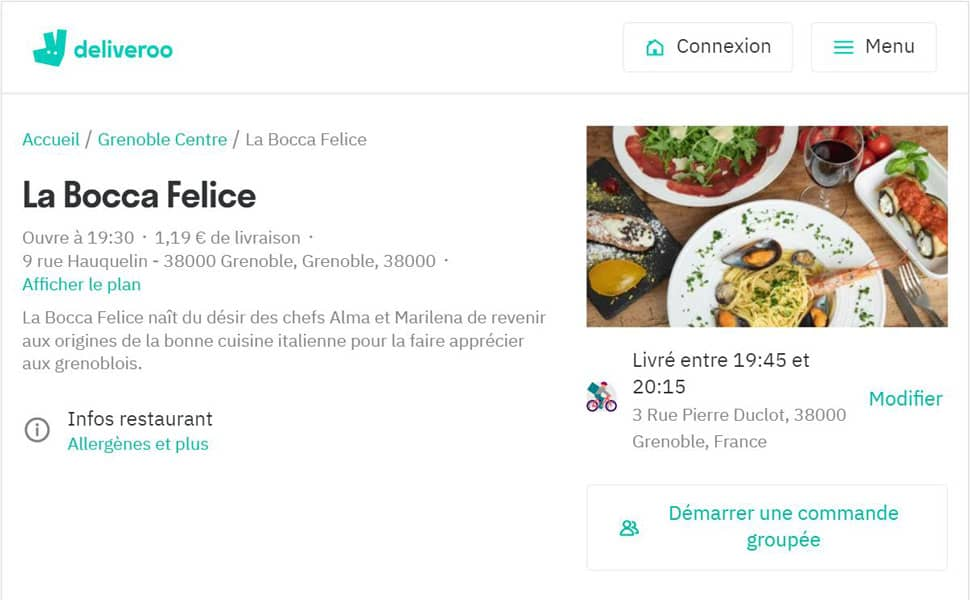 On est sur Deliveroo! We are on Deliveroo!